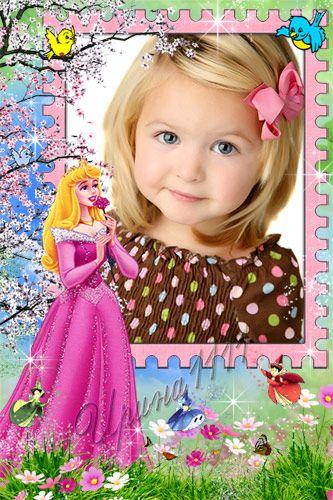 Детская рамка для Photoshop - Принцесса