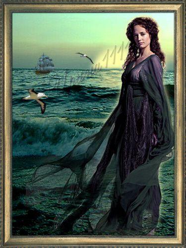 Женский шаблон для Photoshop - Девушка и море