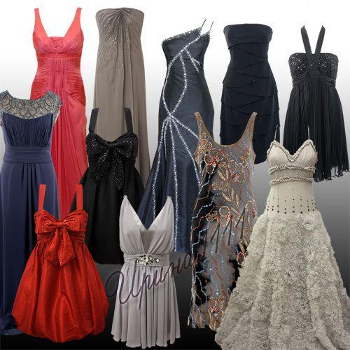 Женские платья для Photoshop - Вечерние