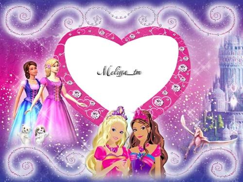 """Рамка для фотошопа """"Barbie's World"""""""
