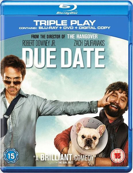 Впритык / Due Date (2010/HDRip/700Mb/1400Mb)
