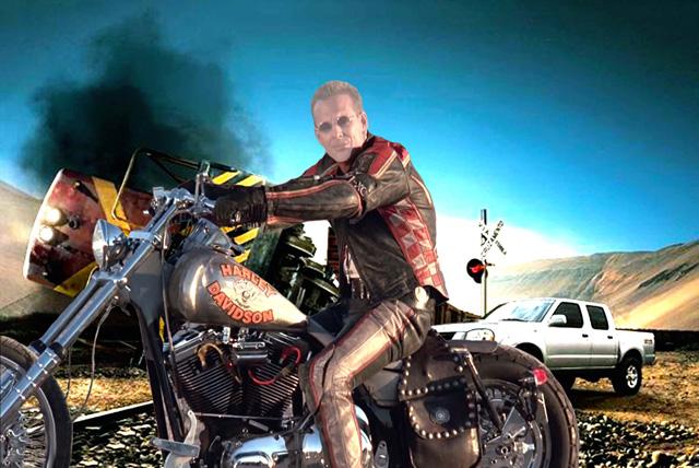 Шаблон для фотошопа - Harley Davidson