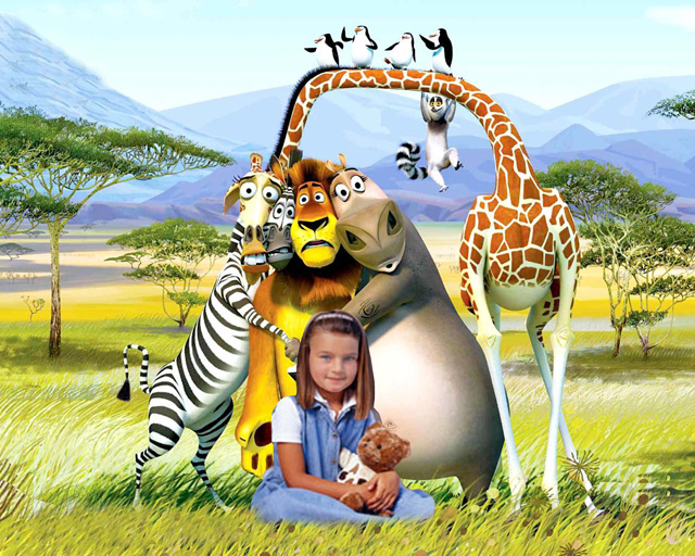 Шаблон для фотошопа - Мадагаскар , фото на память