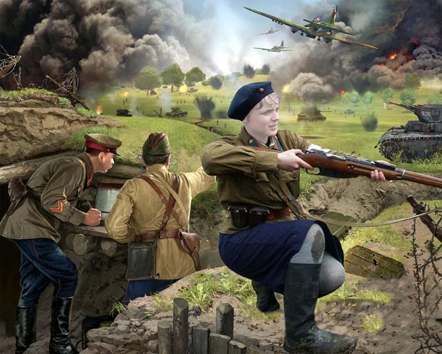 Шаблон для фотошопа - Вторая мировая
