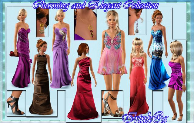 Коллекция вечерних платьев и аксессуаров