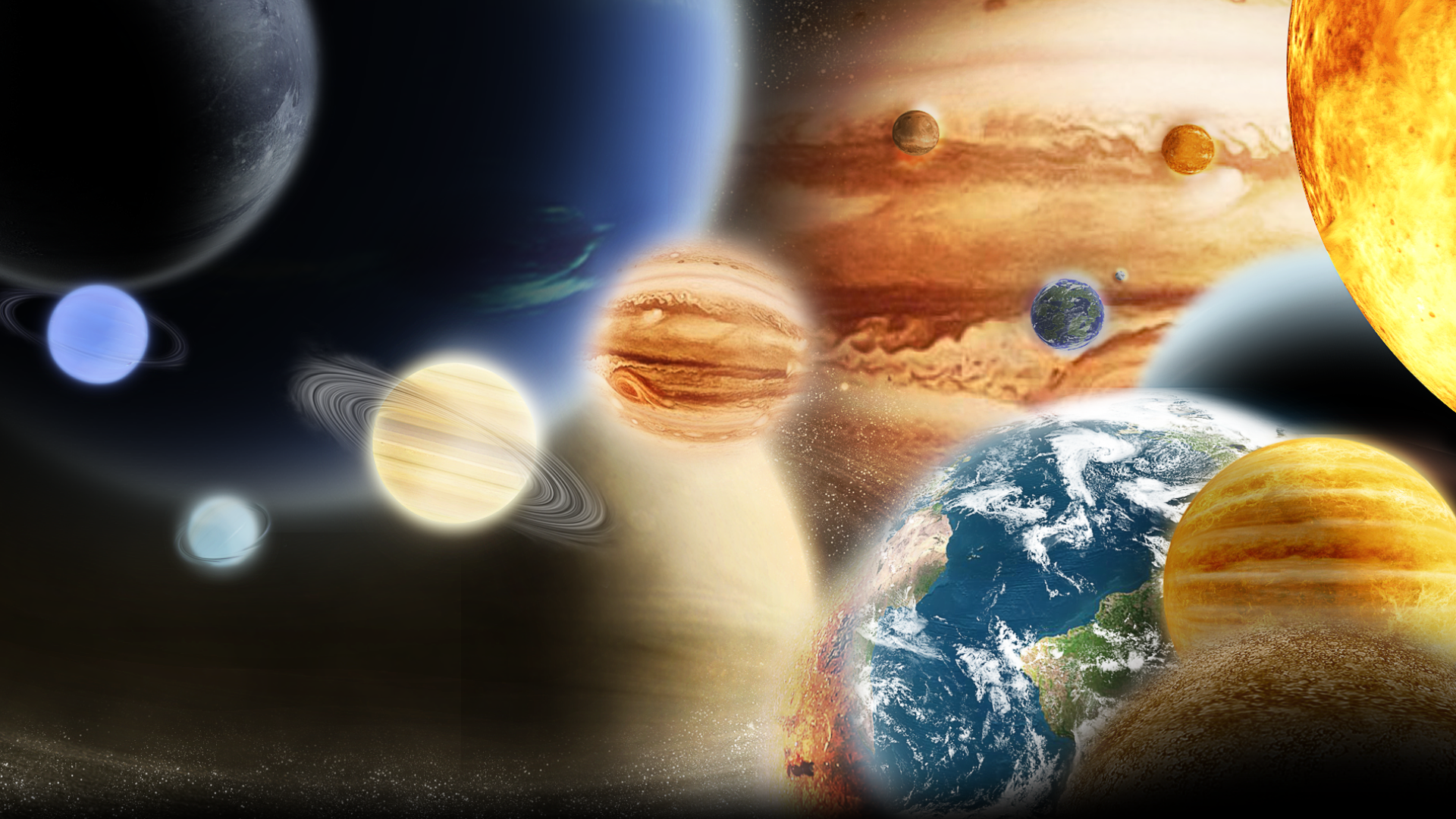 planets and solar system - HD1920×1080