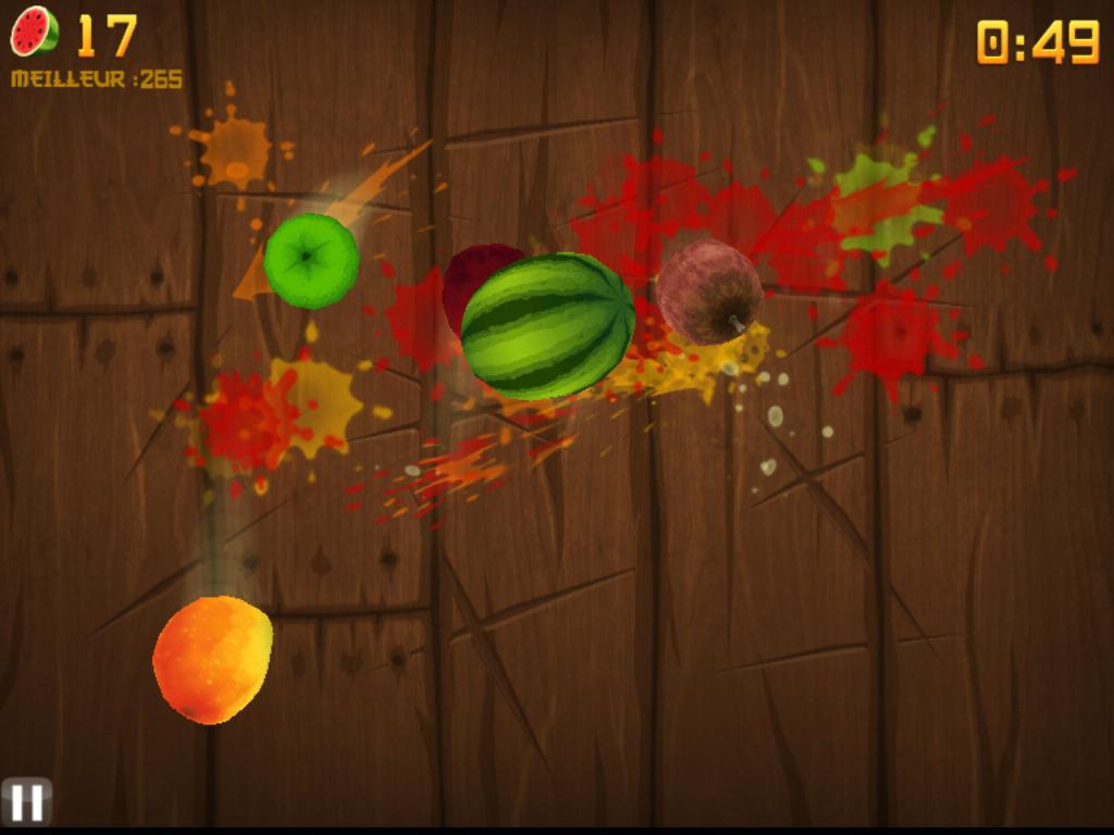 ���� ����� ����� ������� ������� Fruit Ninja HD ���� 74.4 MB