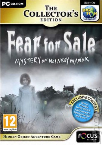 Fear For Sale Mystery Of McInroy Manor Collectors Edition