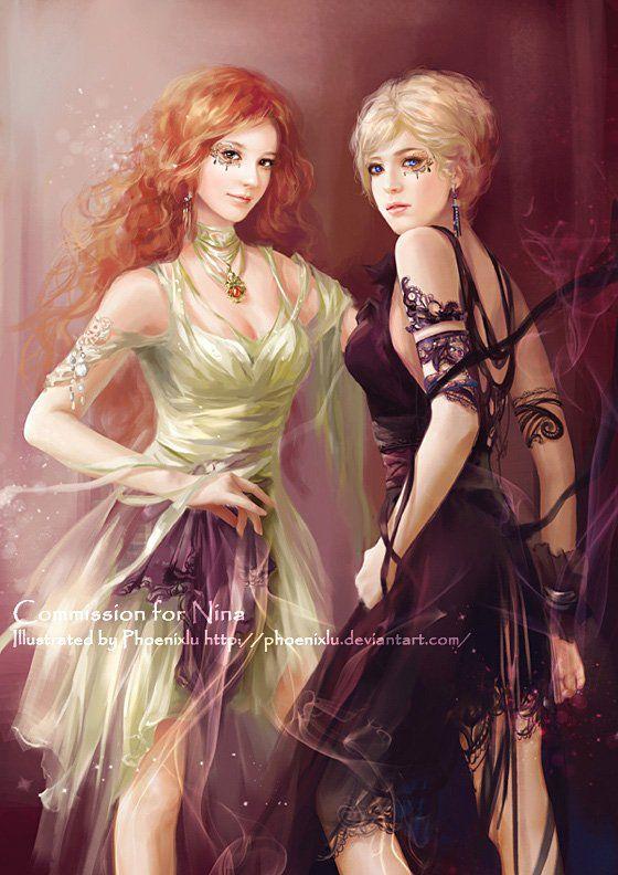 Блондинка и рыжая и парень