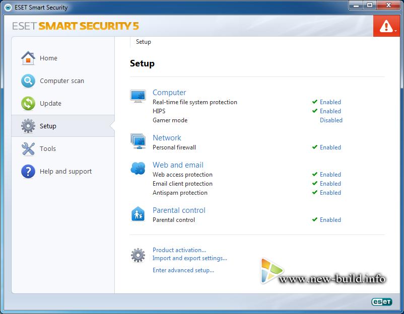Что нового в Eset NOD32 5.0 * Обновлен интерфейс * Новый модуль
