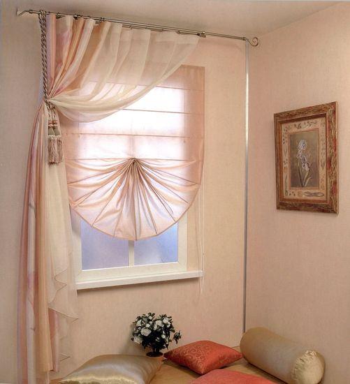 Короткие шторы на кухню фото 6