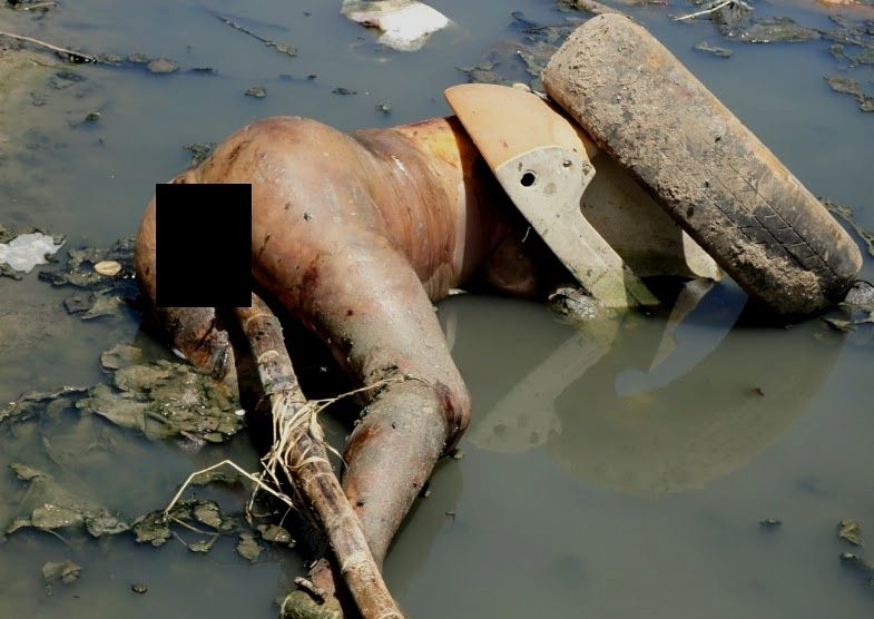 Dead Woman Fished out of Sewage Lake.