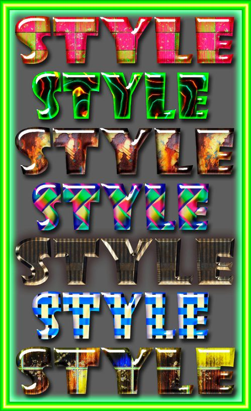 Styles for Photoshop.