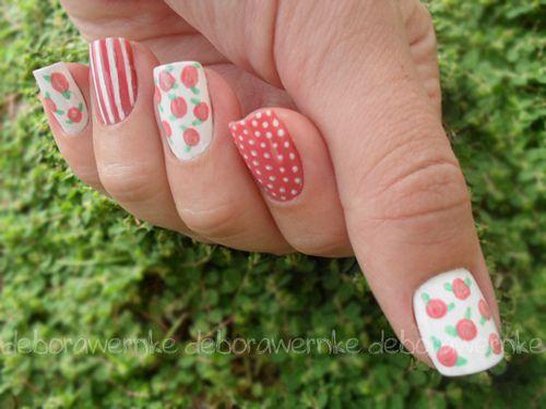 Дизайн ногтей несколькими цветами
