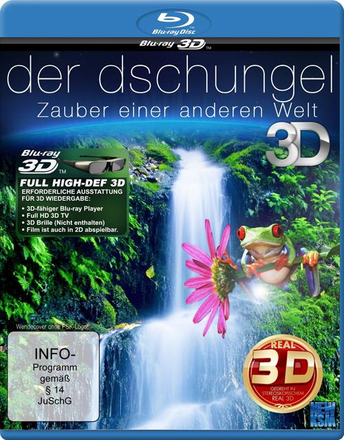 Джунгли 3D - Магия другого мира 3Д / Der Dschungel 3D - Zauber einer anderen Welt 3D (2012) [BDrip-AVC, Half OverUnder / Вертикальная анаморфная стереопара]
