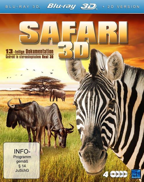Сафари (Диски 1 - 4) 3Д / Safari (Discs 1 - 4) 3D (2011) [BDrip-AVC, Eng, Half OverUnder / Вертикальная анаморфная стереопара]