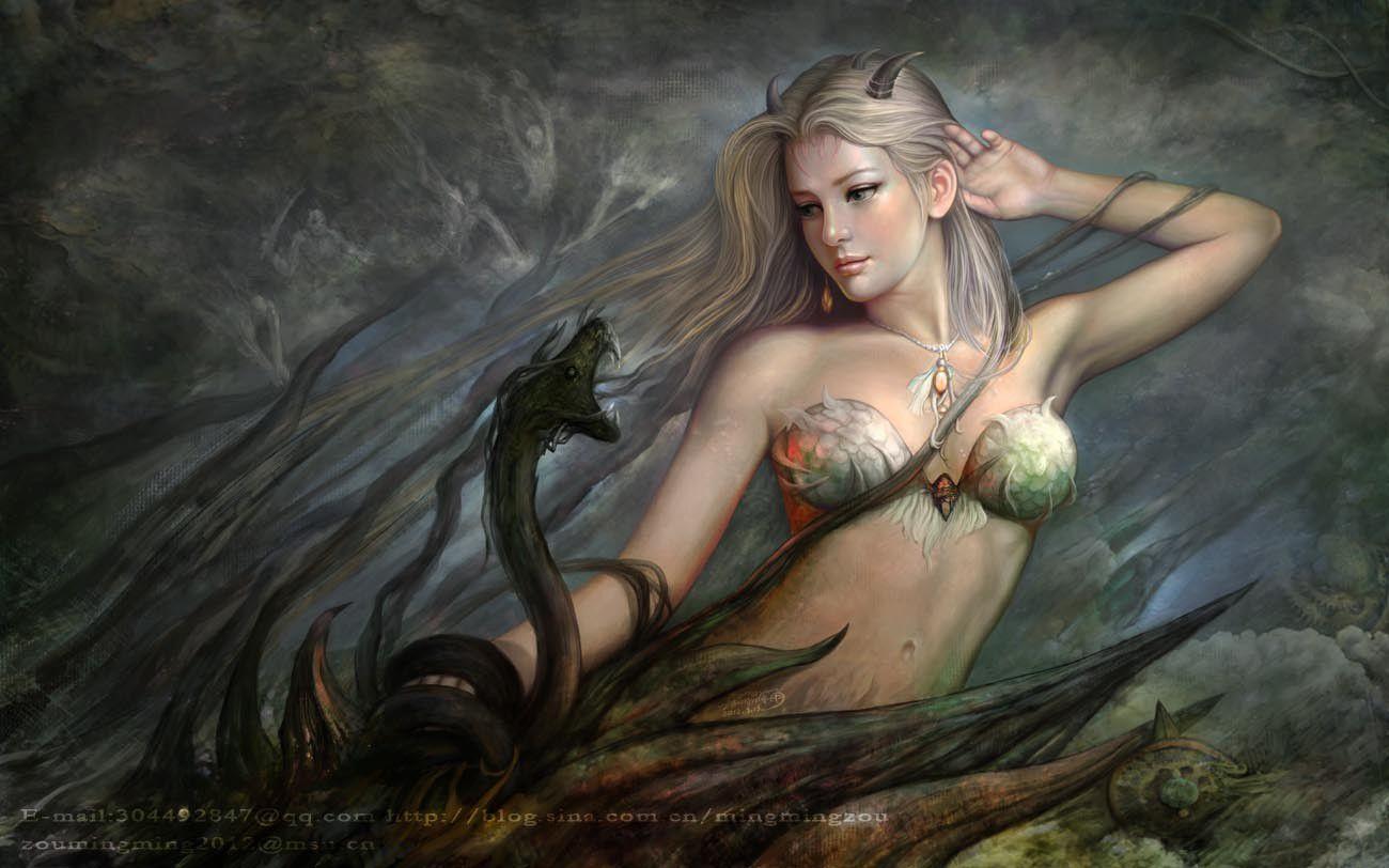 Drawings of nude elf women fantasy naked tubes