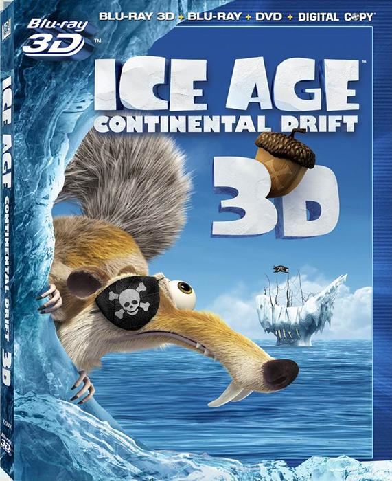 Ледниковый период 4: Континентальный дрейф / Ice Age: Continental Drift 3D (2012) BDRip 1080p [8.39 Gb / вертикальная анаморфная стереопара/Лицензия]