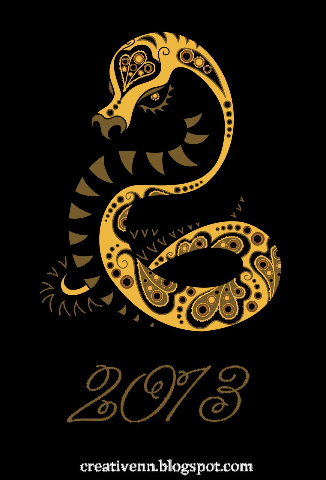 Открытка со змеей