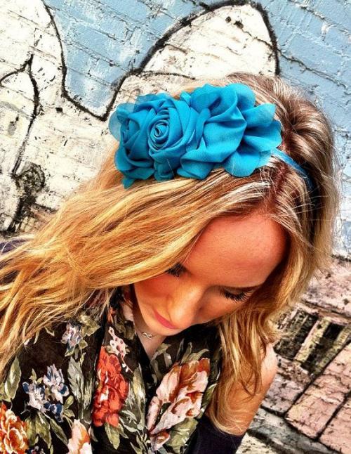 teal flower headband -f07705.jpg