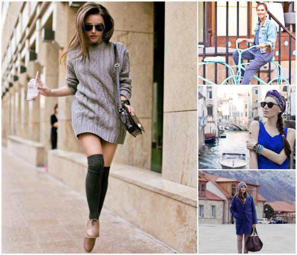 К стильным вязаным свитерам стоит отнести практичные и достаточно свободные модели, где силуэт изделия не облегает