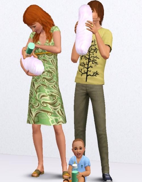 Как сделать чтобы в симс 3 родились двойняшки мальчик и девочка