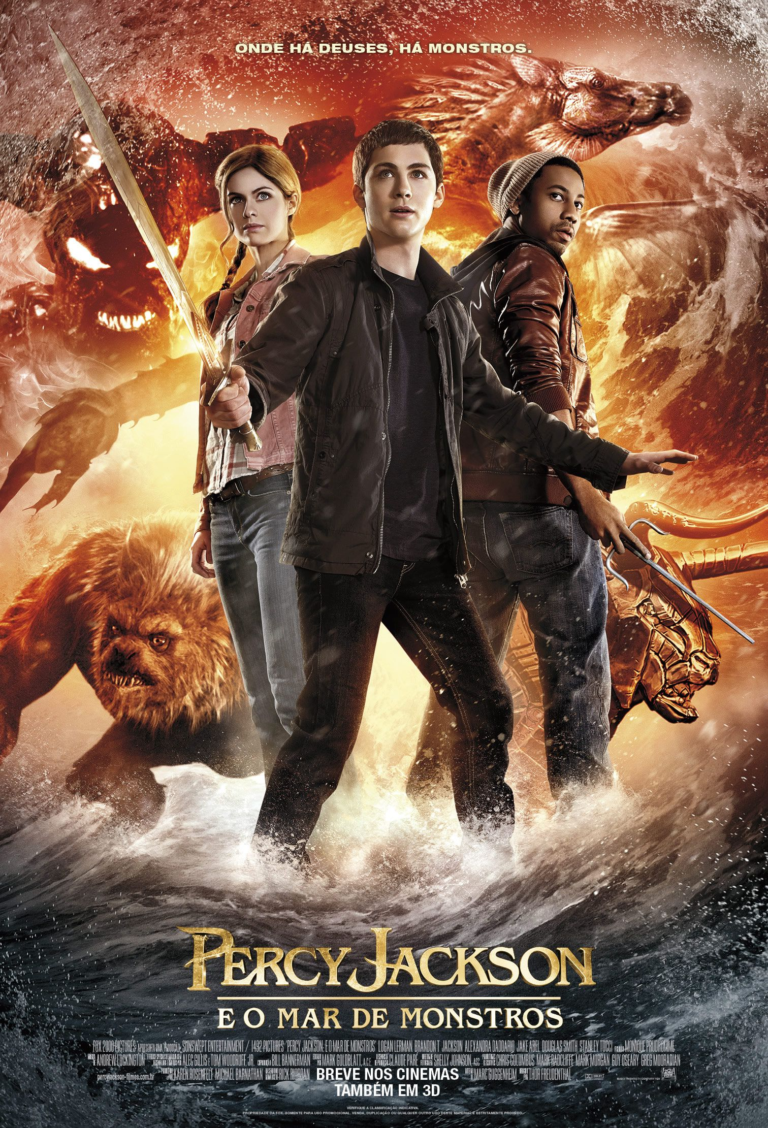 Download  Percy Jackson e o Mar de Monstros AVI Dual Áudio