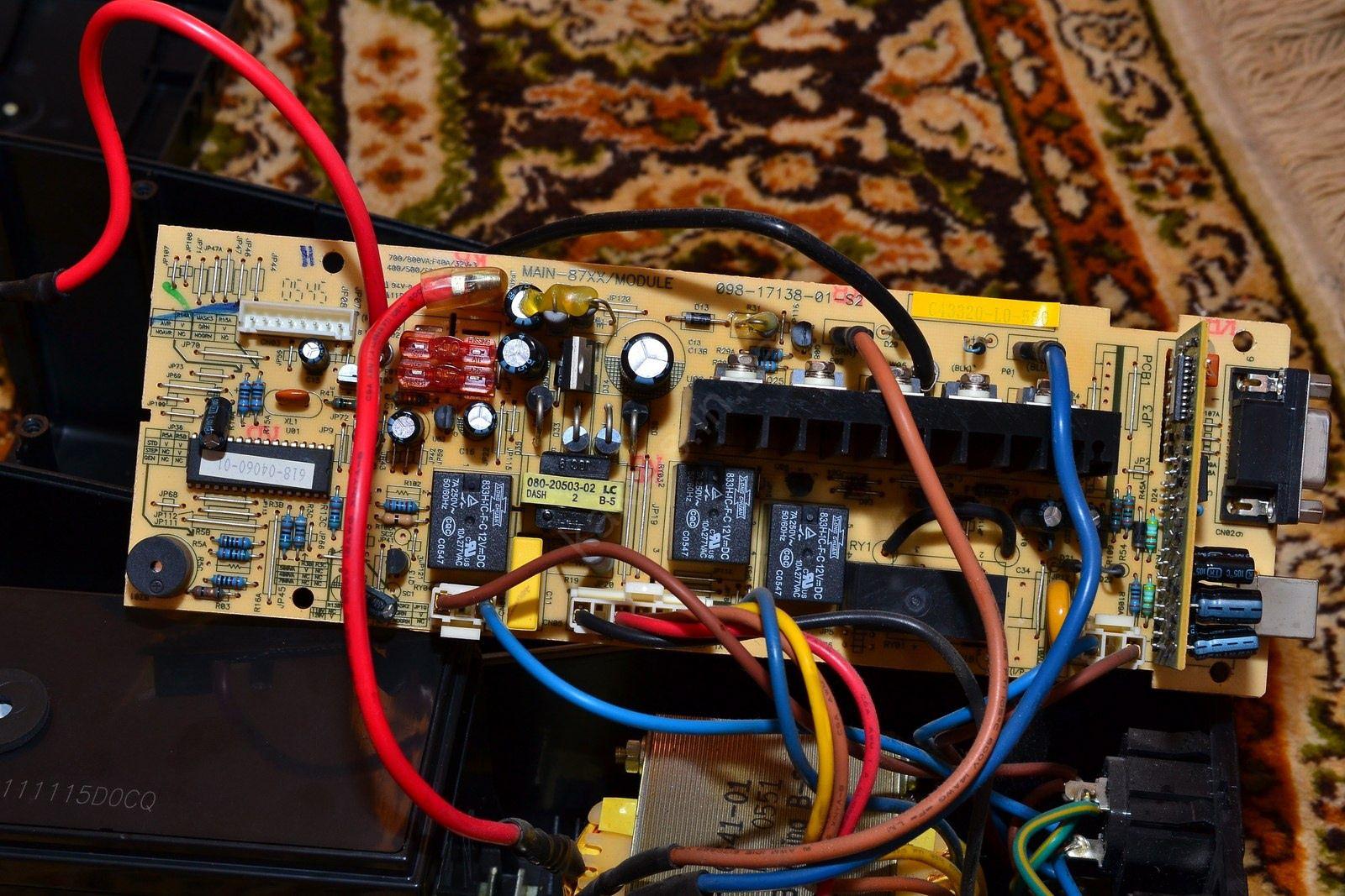 APC Back-UPS CS 500, классический ремонт (конденсаторы) 31