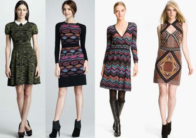 Трикотажное платье на осень