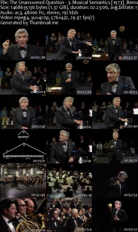The Unanswered Question - Six Talks at Harvard by Leonard Bernstein (DVDRip)