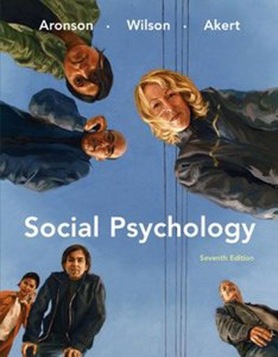 Social Psychology by Elliot Aronson, 7th Edition