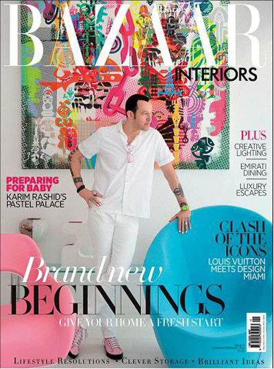 Harper's Bazaar Interiors Magazine January February 2014