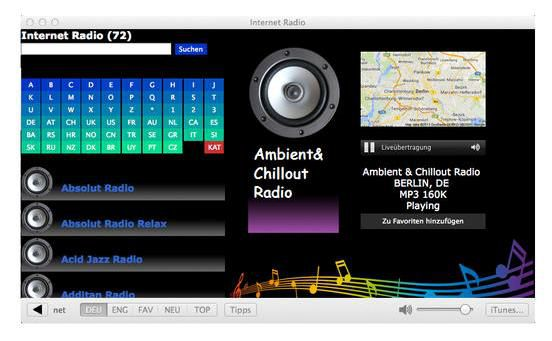 Internet Radio v1.4 Mac OS X