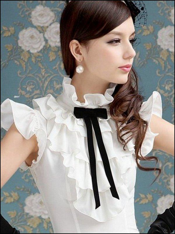 Женская Блузка С Бабочкой