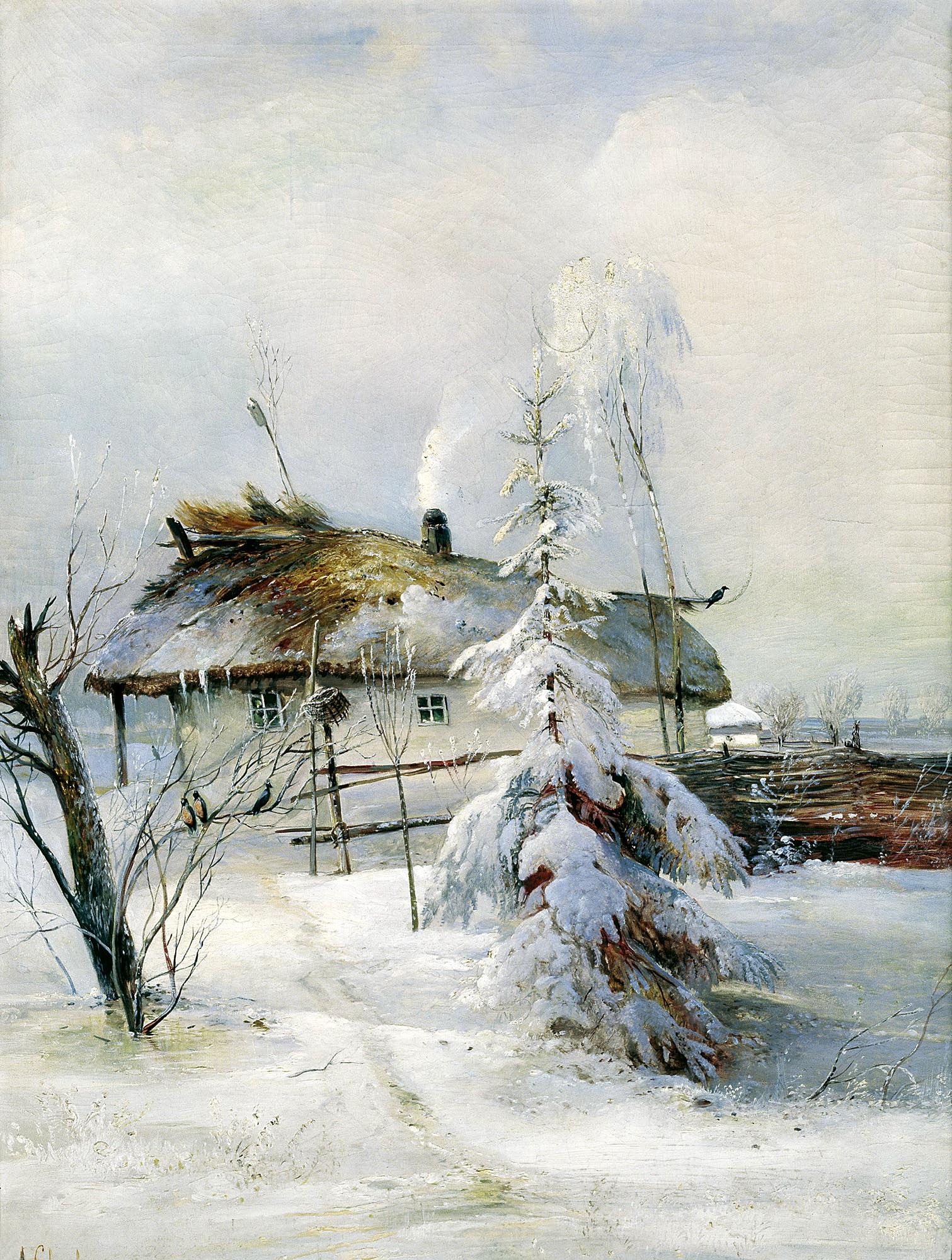 Зимние пейзажи от знаменитых русских художников