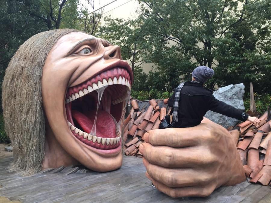 Жуткая скульптура