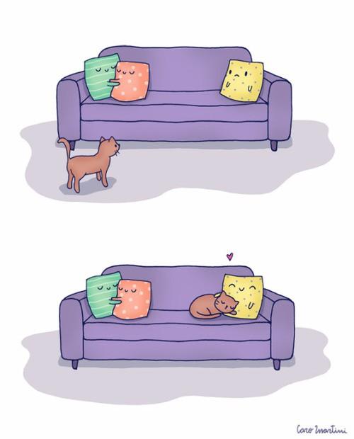 Обнимашки с котейкой