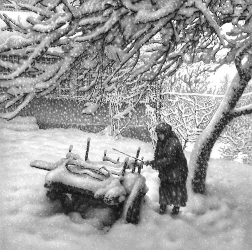 Удивительные рисунки карандашом Гурама Доленджашвили [Фоторепортаж]