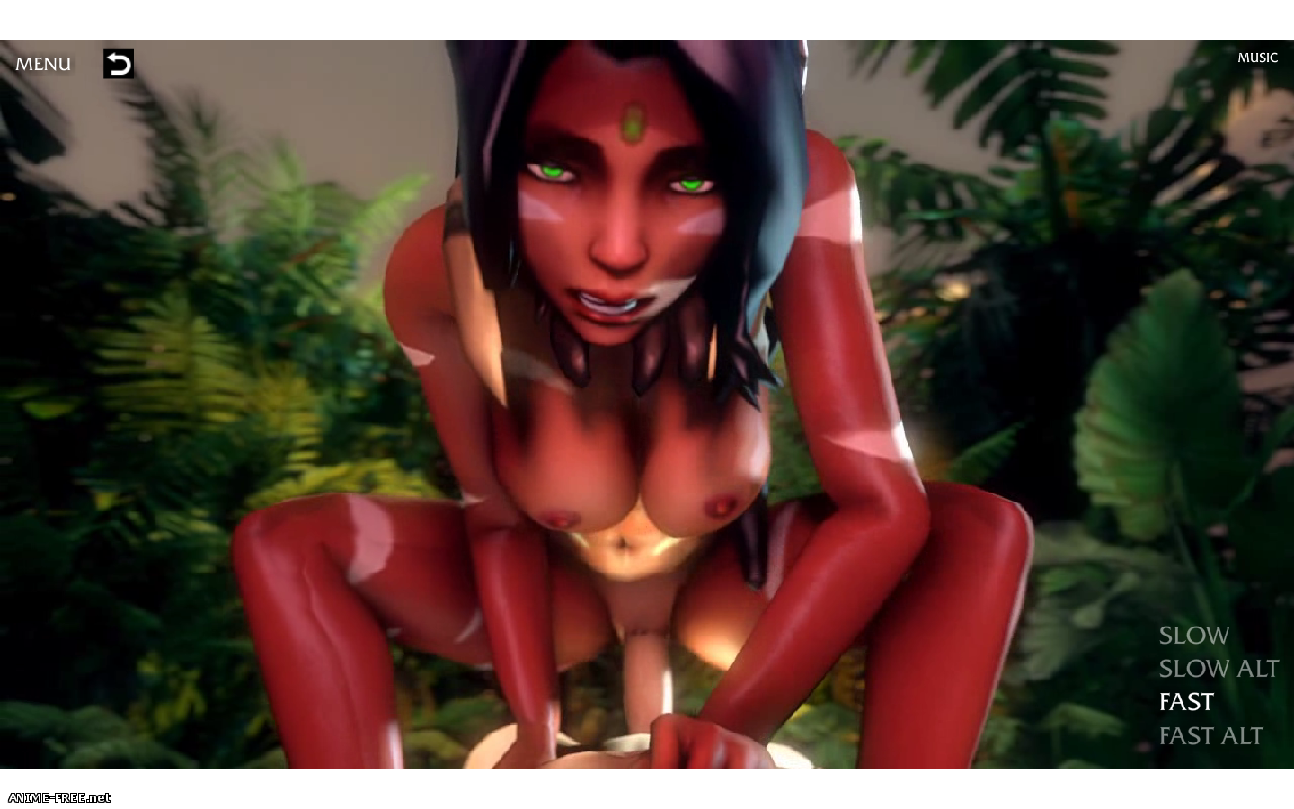 NIDALEE - QUEEN OF THE JUNGLE [2015] [Uncen] [3DCG, Flash, Animation] [ENG] H-Game