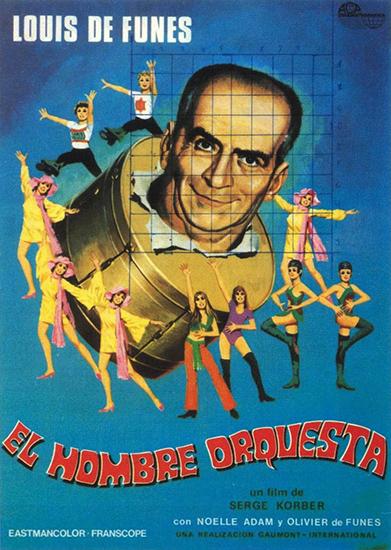 Человек-оркестр / L'homme orchestre (Серж Корбер / Serge Korber) [1970, Франция, мюзикл, комедия, VHSRip] [Советская прокатная копия] Dub (Союзмультфильм)