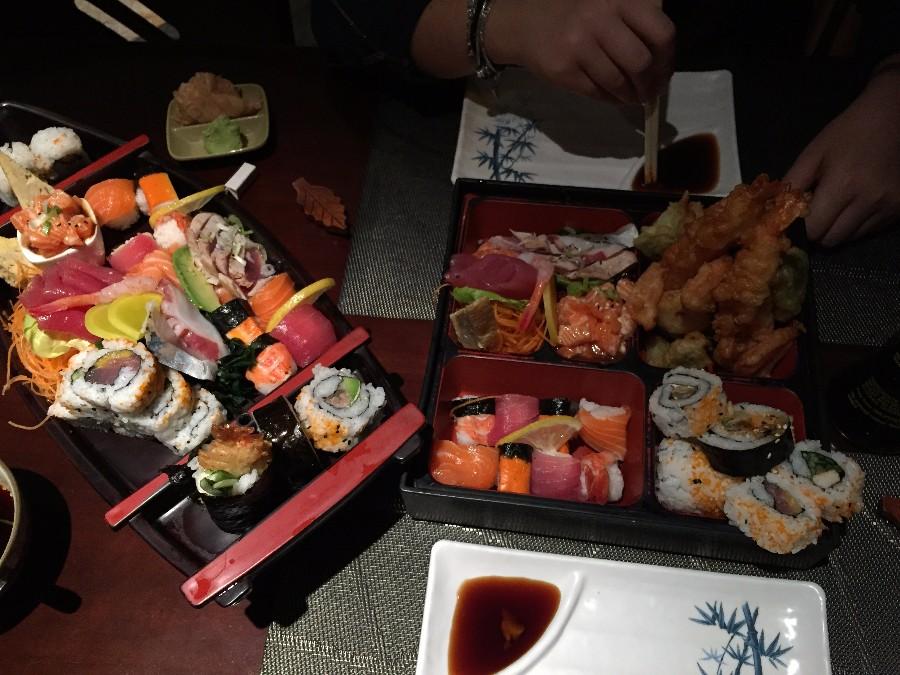Ужин в японском ресторане