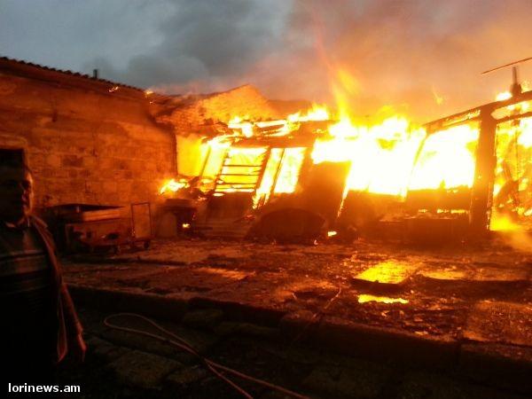 Լոռիում կայծակից երկու տուն է այրվել (ֆոտոշարք). Hraparak.am