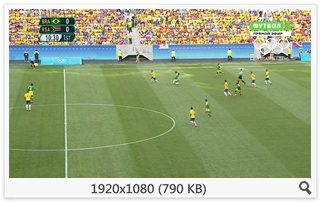 Футбол. XXXI Летние Олимпийские Игры 2016. Мужчины. Группа A. 1-й тур. Бразилия - ЮАР [Футбол 3 HD] [04.08] (2016) HDTV 1080i