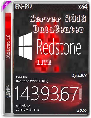 Windows Server 2016 DataCenter 14393.67 LITE by Lopatkin (x64) (2016) Rus/Eng