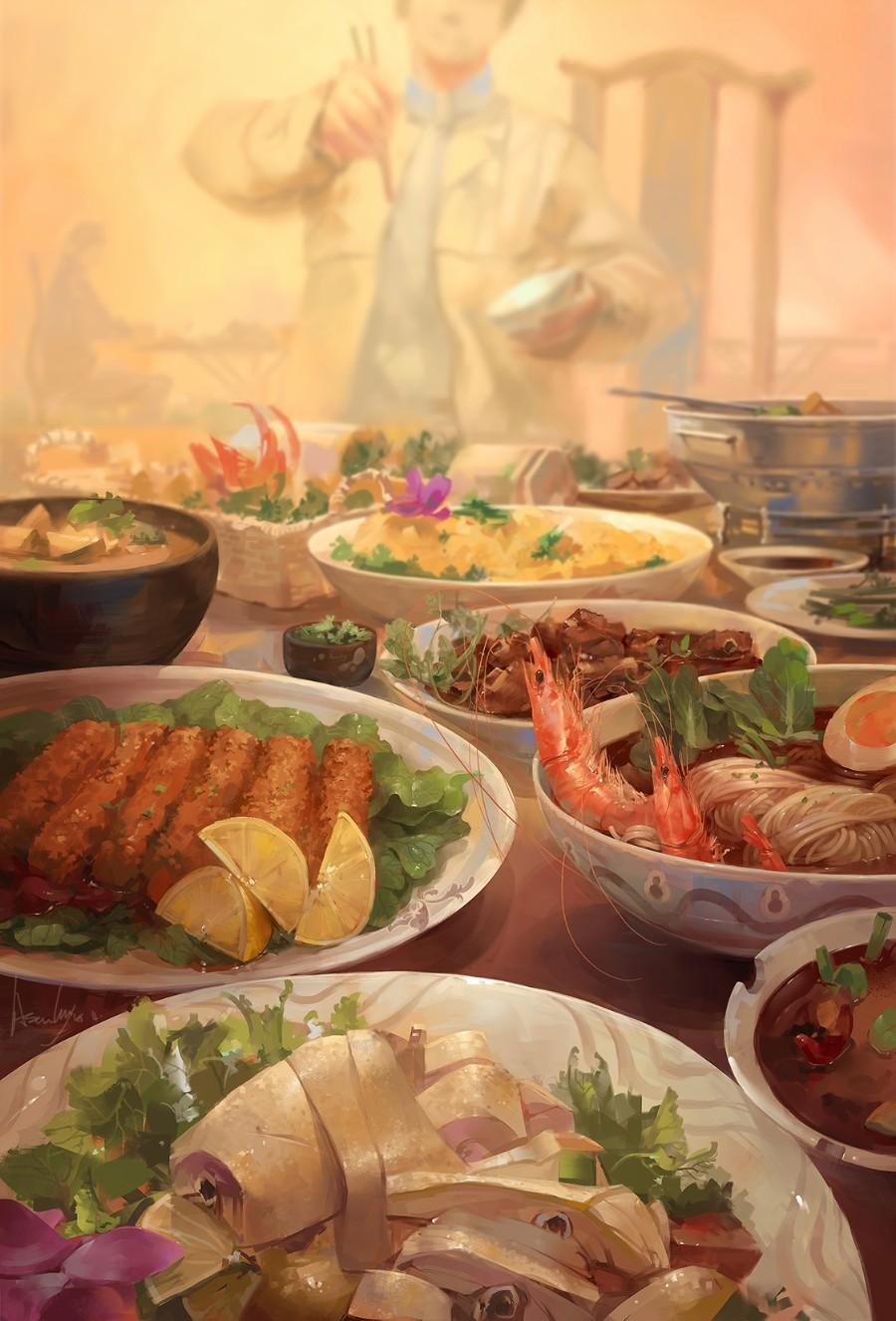 Ужин в восточном стиле