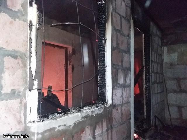 Արջուտ գյուղում բնակարան է այրվել. Լուսանկարներ դեպքի վայրից