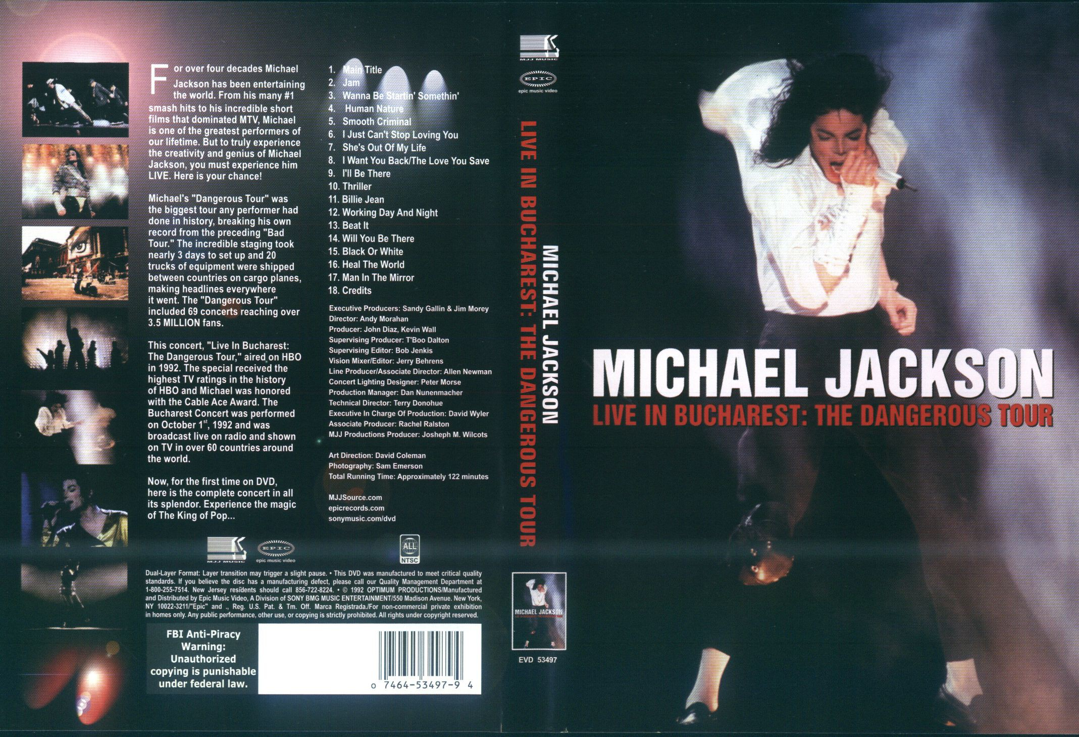Live In Bucharest The Dangerous Tour Ntsc All Regions