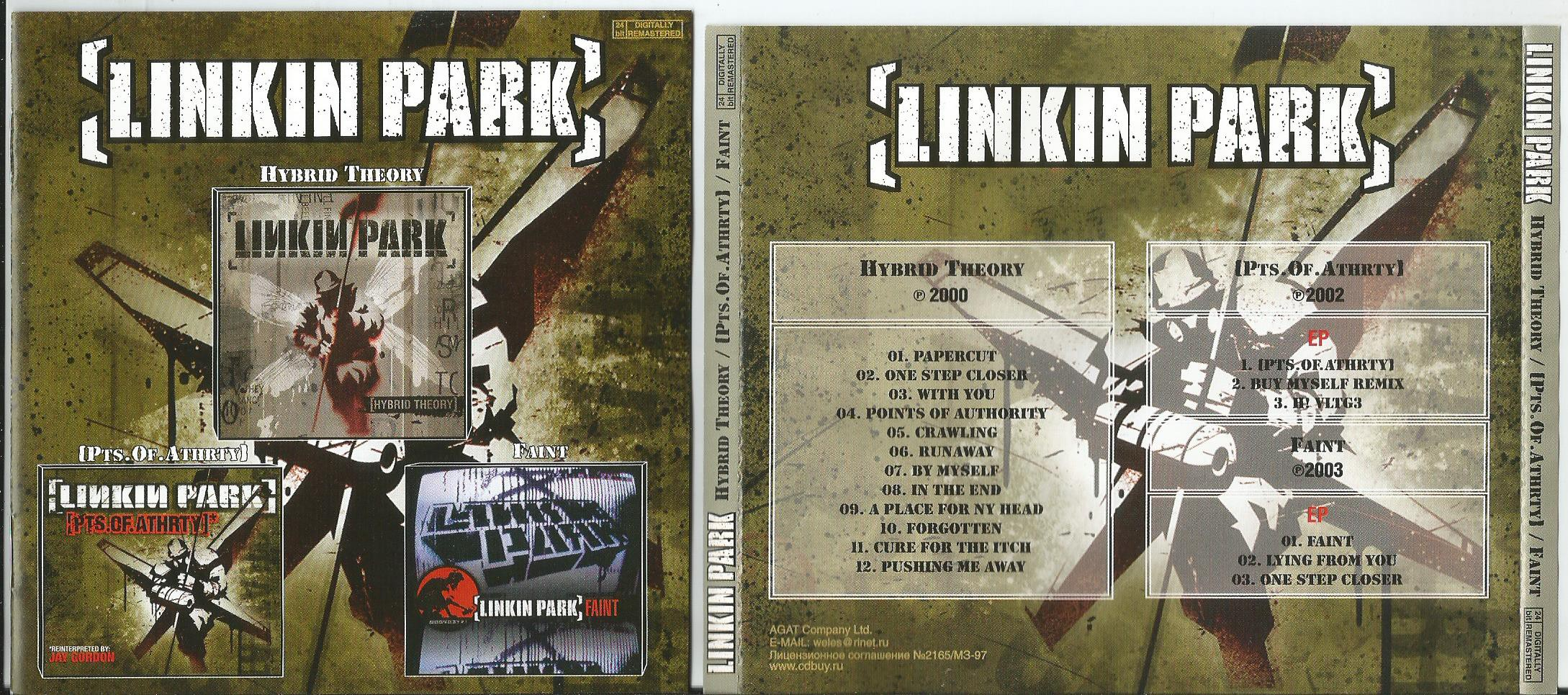 Hybrid theory/ pts  of athrty/ faint (all in 1cd)(8page booklet with  lyrics) by Linkin Park, CD with apexmusic