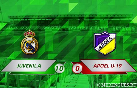 Real Madrid Juvenil A - APOEL F.C. U-19 10:0