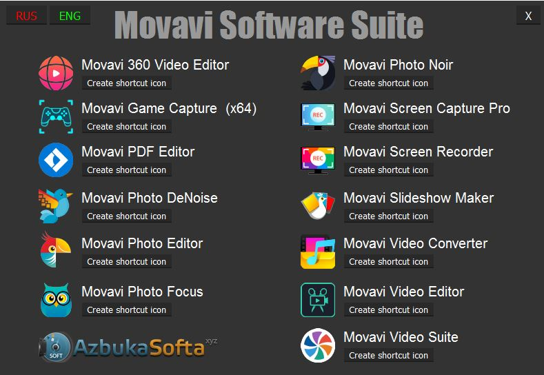 Movavi Software Suite (Unpack Version) by Azbukasofta (2017) Multi / Русский